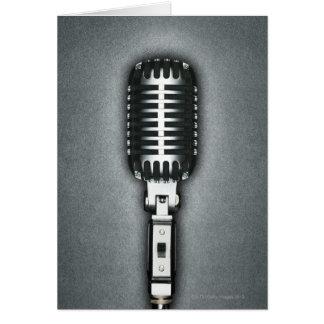 Ein klassisches Mikrofon Karte