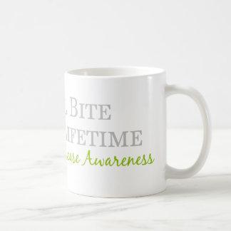 Ein kleiner Biss dauert eine Lebenszeit - Kaffeetasse