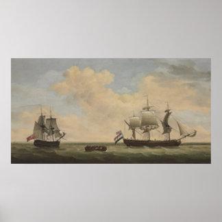 Ein königliches Gewehr-Brigg der Marine 14, welche Plakate