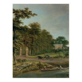 Ein Landhaus Postkarte