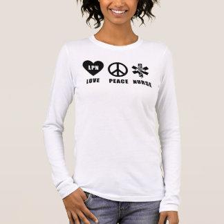 Ein Liebe-Frieden LPN Langarm T-Shirt