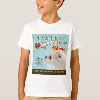 Ein liebevolles maltesisches macht unser T-Shirt