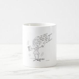 Ein lustiger Druck-Cartoon für Frauen Kaffeetasse