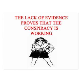 ein lustiger Verschwörungstheorie neuer afe Witz Postkarte