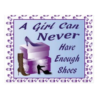 Ein Mädchen kann genügende Schuhe nie haben Postkarte