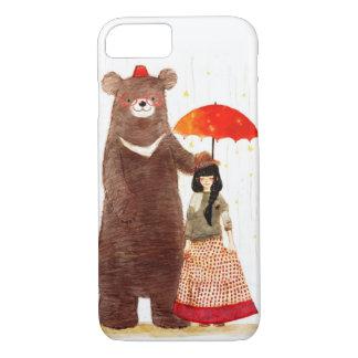 Ein Mädchen und ein Bär kaum dort iPhone 7 iPhone 8/7 Hülle