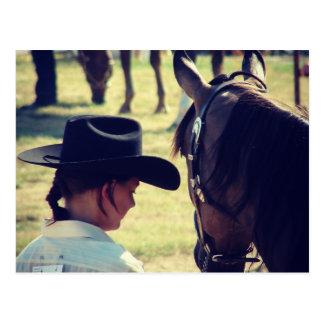 Ein Mädchen und ihr Pferd Postkarte