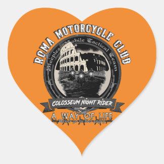 Ein merkwürdiger Motorrad-Verein Herz-Aufkleber
