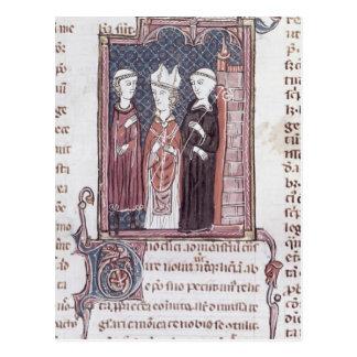 Ein Mönch, ein Bischof und ein Abt Postkarte