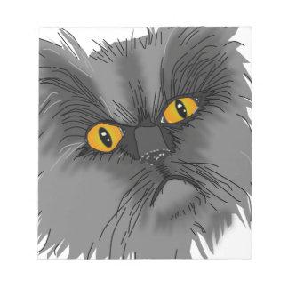 Ein mürrischer Katzenvektor Notizblock