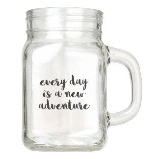 Ein neues Abenteuer-Zitat Einmachglas
