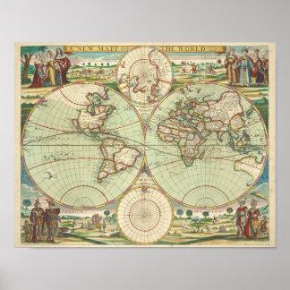 Ein neues mapp der Welt - Atlas Poster