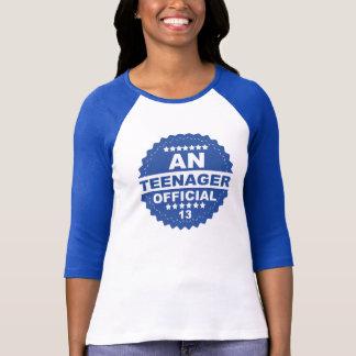 EIN offizieller JUGENDLICH-13. GEBURTSTAG T-Stück T-Shirt