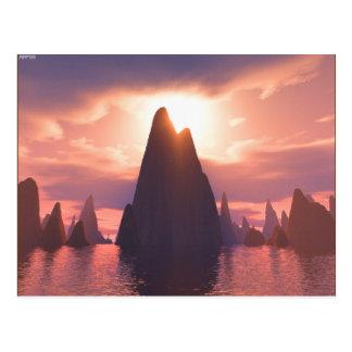 Ein Ort der Spitzen Postkarte