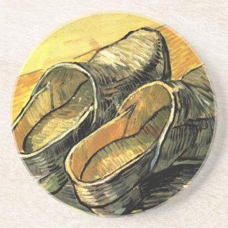 Ein Paar Leder-Klötze durch Vincent van Gogh Sandstein Untersetzer