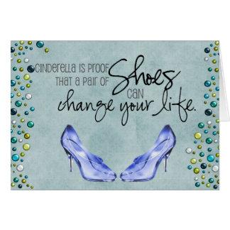 Ein Paar Schuhe kann Ihr Leben Gruß-Auto ändern Karte