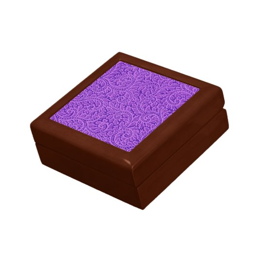 Ein Paisley-Strudel 5 Kleine Quadratische Schatulle