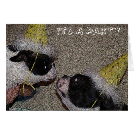 Ein Party Grußkarte