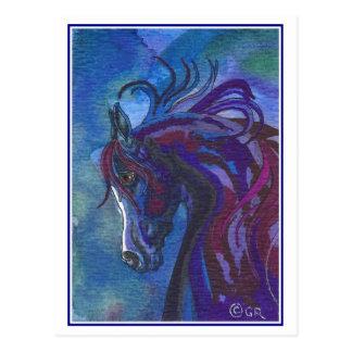 Ein Pferd der unterschiedlichen Farbpostkarte Postkarte