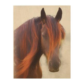 Ein Pferd genannt hölzernen Druck Red