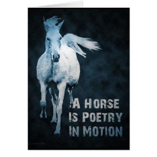 Ein Pferd ist Poesie in der Bewegung Karte