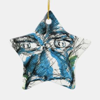 Ein Pferd rief Blue an Keramik Stern-Ornament
