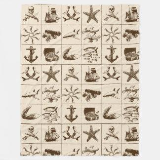 Ein Piraten-Leben Blanket_1 Fleecedecke