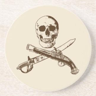Ein Piraten-Leben skullcoaster_1 Sandstein Untersetzer