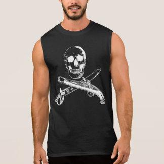 Ein Piraten-Leben SKULLSHIRT_4 Ärmelloses Shirt