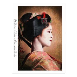 Ein Porträt der japanischen orientalischen Postkarte