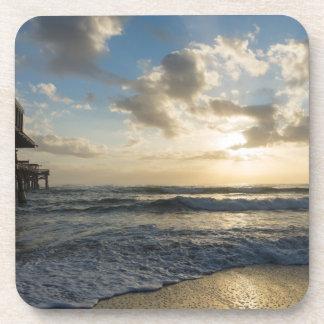 Ein prachtvoller Strand-Morgen Untersetzer