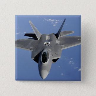 Ein Raubvogel F-22 bewegt sich in Position, um F2 Quadratischer Button 5,1 Cm