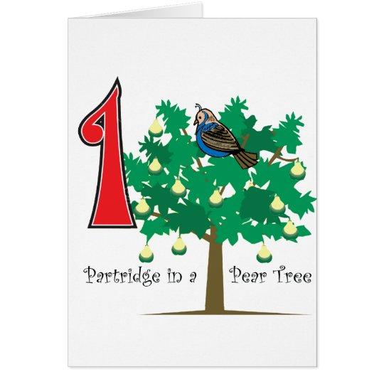 Ein Rebhuhn in einem Birnen-Baum Karte