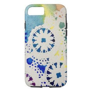 Ein Regenbogenspitze/-gefärbte Krawatte Watercolor iPhone 8/7 Hülle