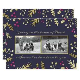Ein Retter ist geborenes religiöses WeihnachtsFoto 12,7 X 17,8 Cm Einladungskarte