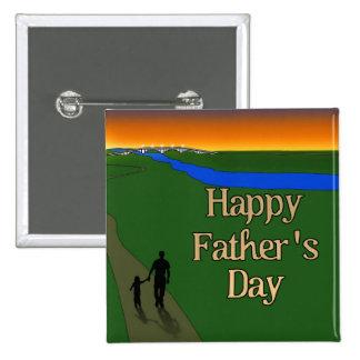 Ein ruhiger Vater-u. Sohn-Weg Quadratischer Button 5,1 Cm