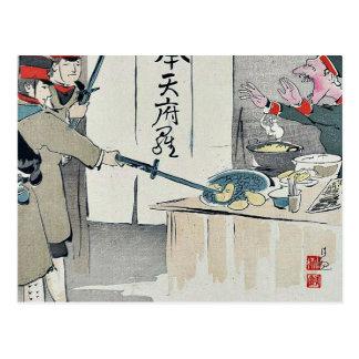 Ein Russesoldat protestiert durch Kobayashi, Postkarten