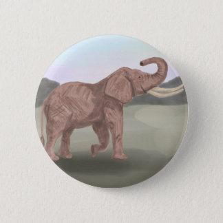 Ein Savanneelefant Runder Button 5,1 Cm