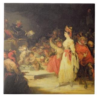 Ein Schauspielerin vor der Inquisition (sehen Sie Fliese