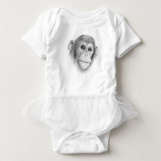 Ein Schimpanse, nicht herum Monkeying Skizze Baby Strampler