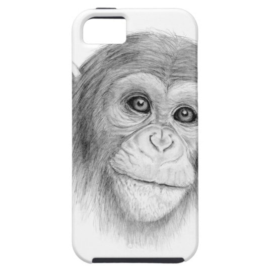 Ein Schimpanse, nicht herum Monkeying Skizze iPhone 5 Hüllen