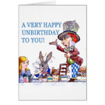 Ein sehr glückliches Unbirthday zu Ihnen! Grußkarte