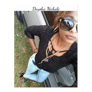Ein selfie von Daysha Nichole, Postkarte