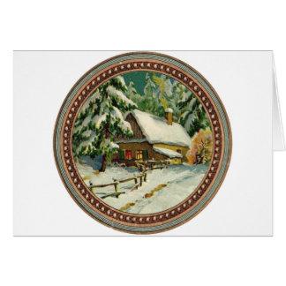 Ein snowy-Weihnachten! Karte