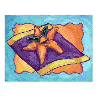 Ein Sonnenbad nehmende Starfish Postkarte