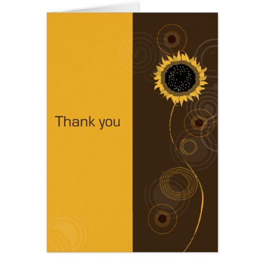 Ein sonniges danken Ihnen Mitteilungskarte