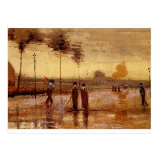 Ein Sonntag in Eindhoven durch Vincent van Gogh Postkarte