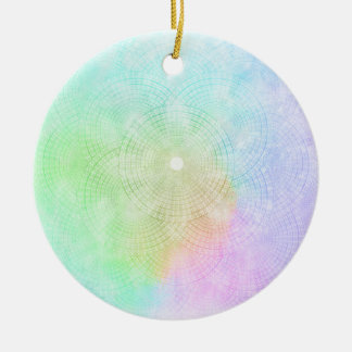 Ein Spritzen der Pastellverzierung Keramik Ornament