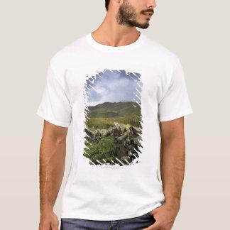 Ein Steinzaun durch Felder T-Shirt