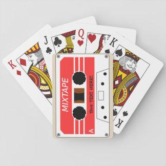 Ein stilisiertes Kassettenband Spielkarten